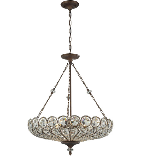 ELK 12025/6 Christina 6 Light 26 inch Mocha Semi Flush Mount Ceiling Light, Convertible photo