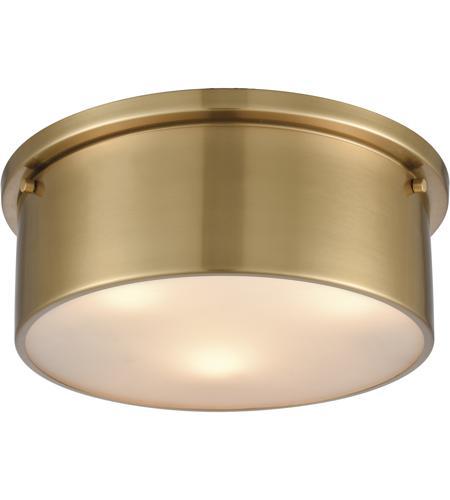 Light 14 Inch Satin Br Flush Mount