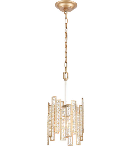 ELK 12132/1 Equilibrium 1 Light 8 inch Matte Gold with Polished Nickel Pendant Ceiling Light photo thumbnail
