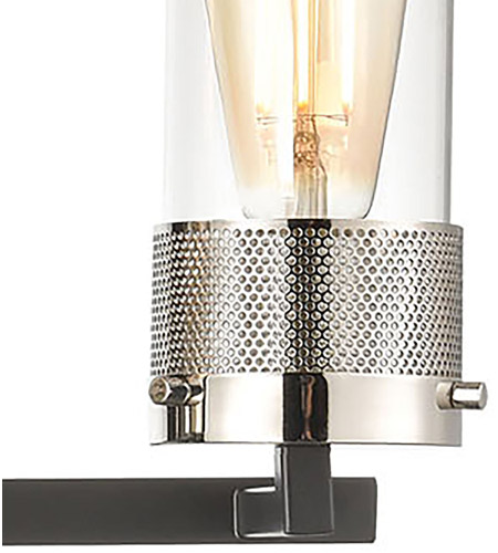 ELK 12143/4 Bergenline 4 Light 32 inch Matte Black with Polished Nickel Vanity Light Wall Light alternative photo thumbnail