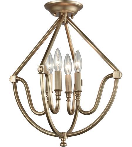 Elk Lighting Garriston: ELK 12841/4 Stanton 4 Light 16 Inch Matte Gold Semi Flush