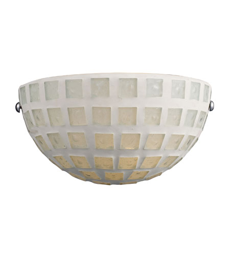 ELK 1320/1WHM Fused Glass Mosaic 1 Light 10 inch Satin Nickel Sconce Wall Light photo