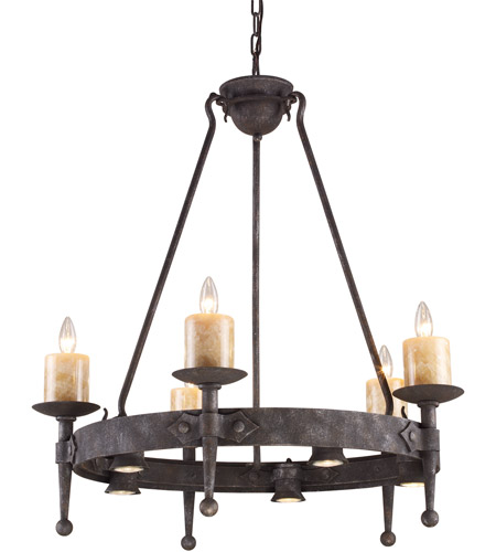 Cambridge 10 Light 33 Inch Moonlit Rust Chandelier Ceiling