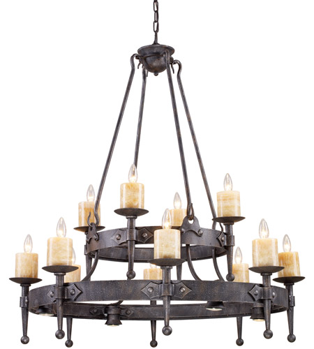 ELK 14006/8+4+4 Cambridge 16 Light 42 inch Moonlit Rust Chandelier Ceiling Light photo