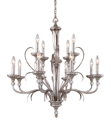 ELK Lighting Oasis 12 Light Chandelier in Antique Silver 14038/8+4 photo