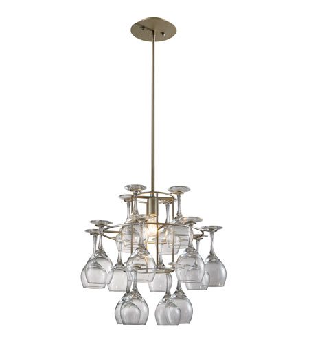 ELK Lighting Vintage 1 Light Chandelier in Aged Silver 14041/1 photo