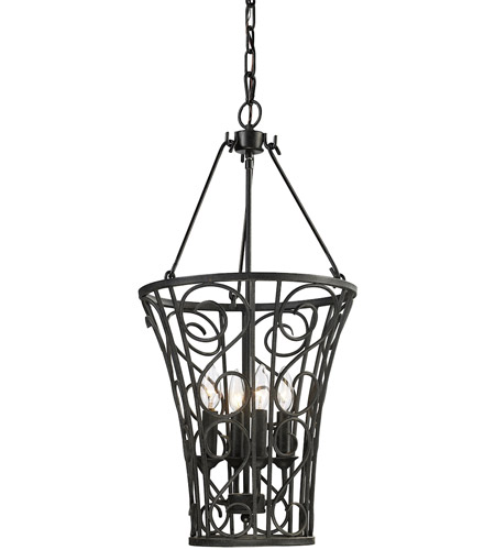 ELK Lighting Santiago 4 Light Pendant in Rust 14048/4 photo