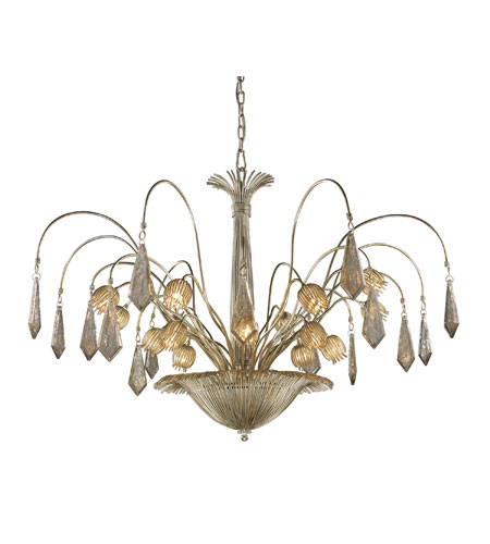 ELK Lighting Nimbus 16 Light Chandelier in Antique Silver Leaf 14054/16 photo