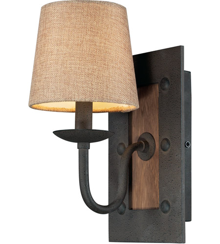 Early American 1 Light 6 Inch Vintage Rust Sconce Wall
