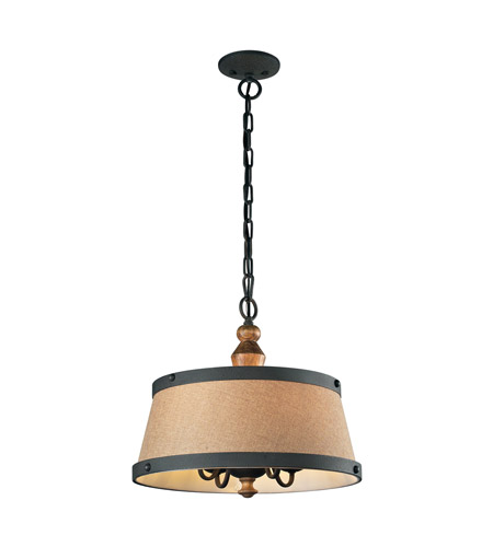 ELK 14131/4 Early American 4 Light 17 inch Vintage Rust Chandelier Ceiling Light photo