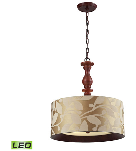 ELK 14151/3-LED Nathan LED 20 inch Dark Walnut Pendant Ceiling Light photo