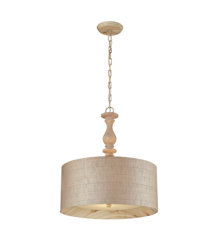 ELK 14161/3 Nathan 3 Light 20 inch Washed Pine Pendant Ceiling Light photo