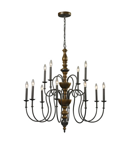 french country wooden chandelier home depot with shades elk light vintage rust ceiling