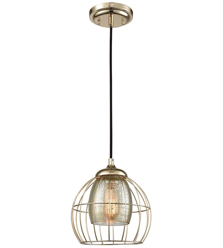 Elk Lighting Yardley: ELK 14265/1 Yardley 1 Light 8 Inch Polished Gold Pendant