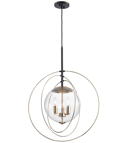 elk zonas 3 light 23 inch polished goldoil rubbed bronze chandelier ceiling light