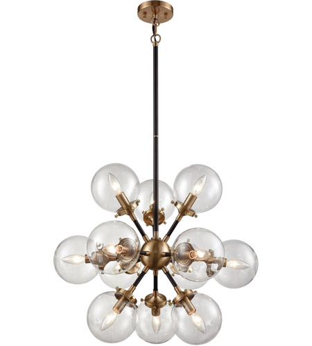 Elk 1443412 boudreaux 12 light 25 inch matte black and antique gold elk 1443412 boudreaux 12 light 25 inch matte black and antique gold chandelier ceiling light aloadofball Choice Image