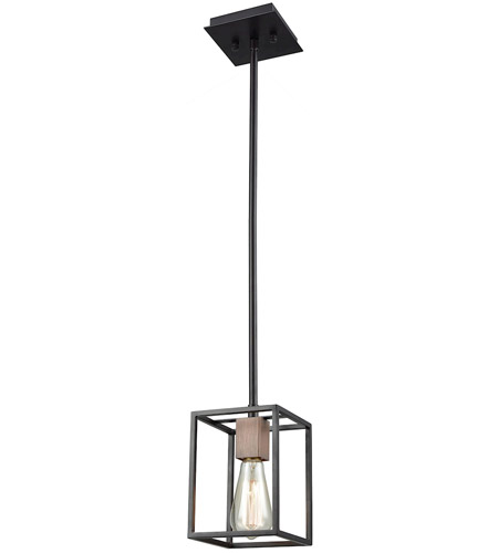 ELK 14461/1 Rigby 1 Light 6 inch Oil Rubbed Bronze with Tarnished Brass Mini Pendant Ceiling Light photo