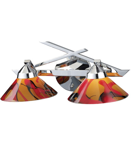ELK Lighting Refraction 2 Light Vanity in Polished Chrome 1471/2JAS photo