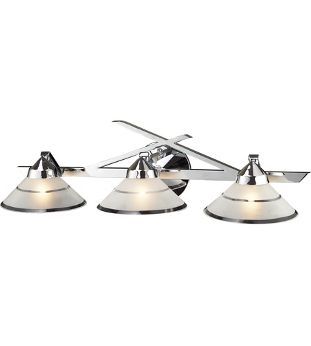 ELK Lighting Refraction 3 Light Vanity in Polished Chrome 1472/3 photo