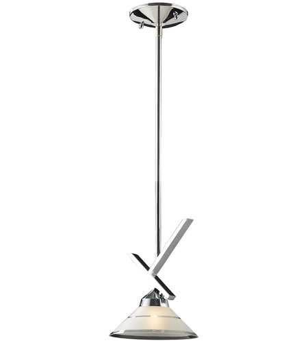 ELK Lighting Refraction 1 Light Pendant in Polished Chrome 1474/1 photo