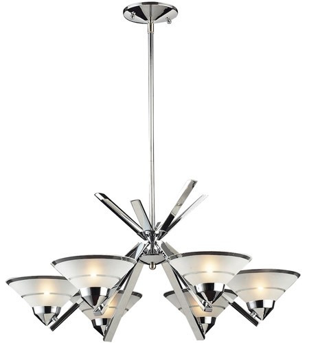 ELK Lighting Refraction 6 Light Chandelier in Polished Chrome 1475/6 photo
