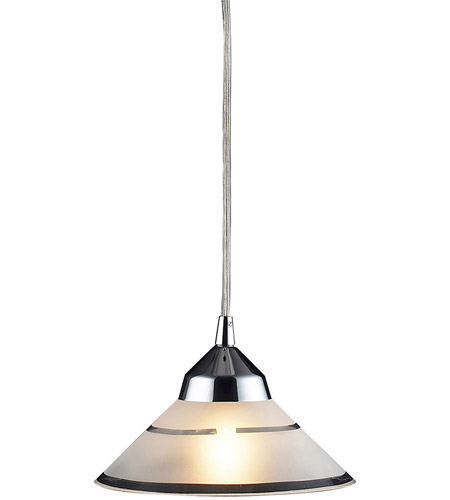ELK 1477/1 Refraction 1 Light 7 inch Polished Chrome Pendant Ceiling Light in Etched Clear Glass photo