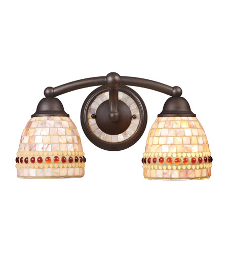 ELK Lighting Roxana 2 Light Vanity in Aged Bronze 15011/2 photo