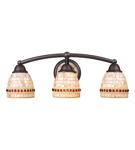 ELK Lighting Roxana 3 Light Vanity in Aged Bronze 15012/3 photo