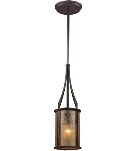 ELK 15033/1 Barringer 1 Light 6 inch Aged Bronze Pendant Ceiling Light photo