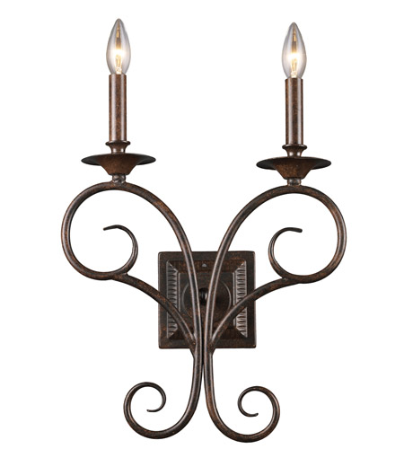 ELK Lighting Gloucester 2 Light Sconce in Antique Bronze 15040/2 photo