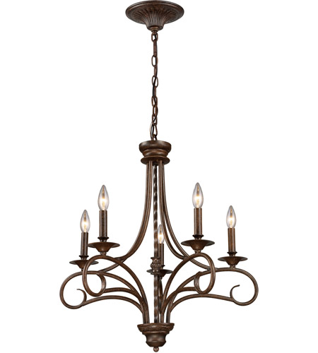 ELK 15042/5 Gloucester 5 Light 24 inch Antique Bronze Chandelier Ceiling Light photo