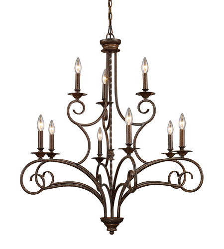 ELK 15043/6+3 Gloucester 9 Light 36 inch Antique Bronze Chandelier Ceiling  Light - ELK 15043/6+3 Gloucester 9 Light 36 Inch Antique Bronze Chandelier