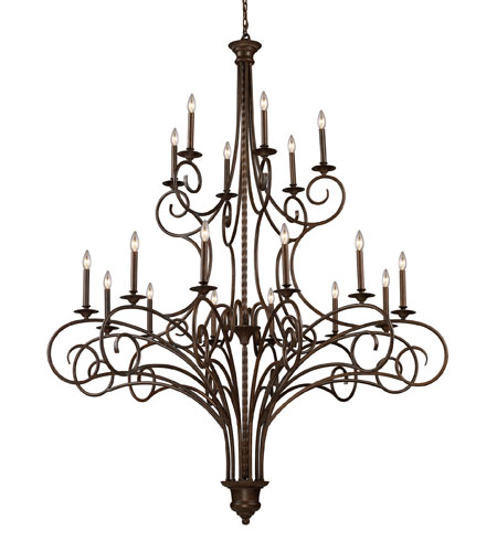ELK 15044/12+6 Gloucester 18 Light 60 inch Antique Bronze Chandelier Ceiling Light photo