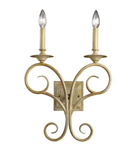 ELK Lighting Gloucester 2 Light Wall Sconce in Bleached Wood 15070/2 photo