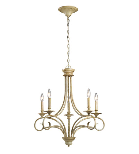 ELK Lighting Gloucester 5 Light Chandelier in Bleached Wood 15072/5 photo