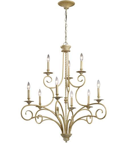 ELK Lighting Gloucester 9 Light Chandelier in Bleached Wood 15073/6+3 photo