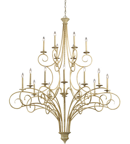 ELK Lighting Gloucester 18 Light Chandelier in Bleached Wood 15074/12+6 photo