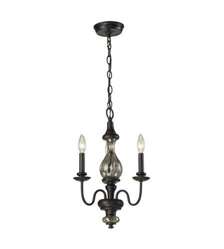 ELK Lighting HGTV HOME Veronica 3 Light Chandelier in Vintage Rust 15082/3