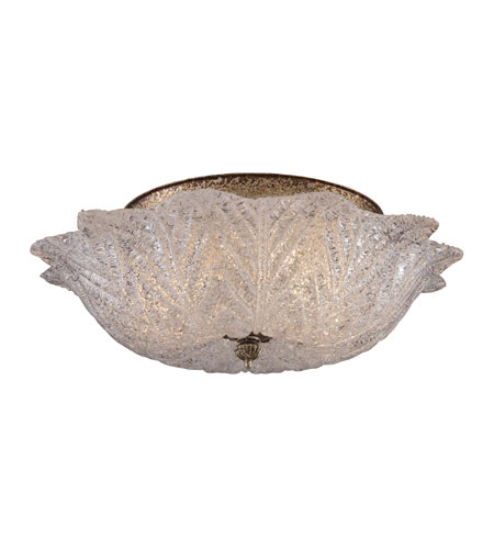 ELK Lighting Providence 2 Light Flush Mount in Antique Silver Leaf 1515/2 photo