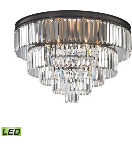 elk 152266led palacial led 31 inch oil rubbed bronze chandelier ceiling light