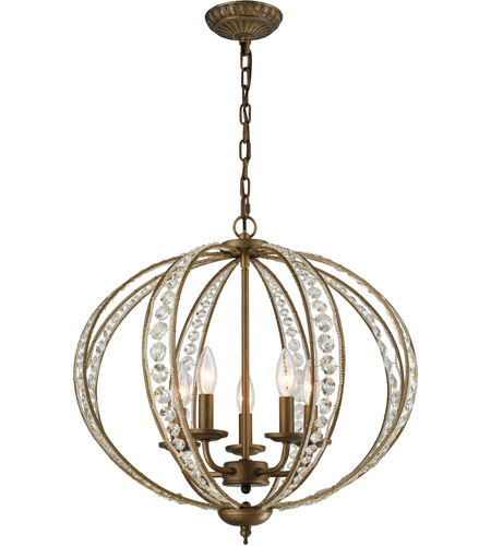 ELK 15965/5 Elizabethan 5 Light 21 inch Dark Bronze Chandelier Ceiling Light photo