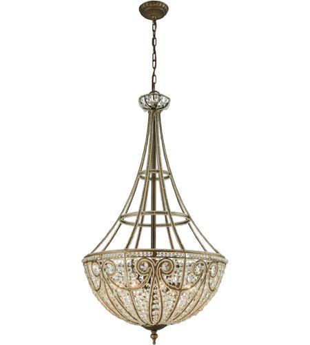 ELK 15966/8 Elizabethan 8 Light 22 inch Dark Bronze Chandelier Ceiling  Light in Standard