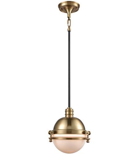 Elk Lighting Amazon: ELK 16070/1 Riley 1 Light 10 Inch Satin Brass And Oil