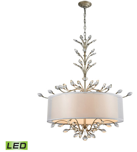 ELK 16283/6-LED Asbury LED 32 inch Aged Silver Chandelier Ceiling Light photo