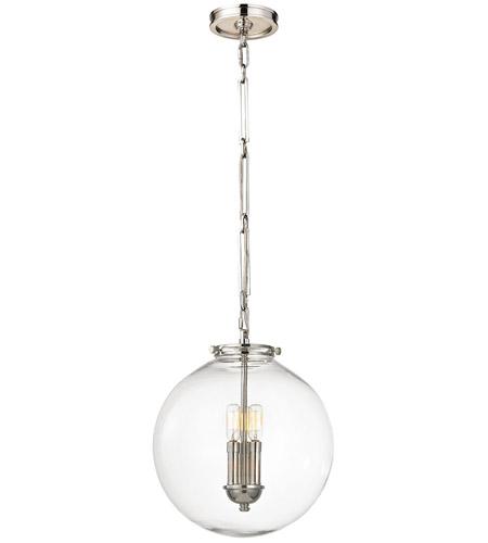 Gramercy 3 Light 14 inch Polished Nickel Pendant Ceiling Light