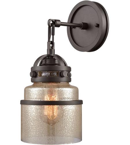 Elk 16450 1 Gramercy Light 6 Inch Oil Rubbed Bronze Wall Sconce