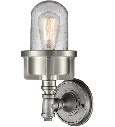 Weathered Zinc Glass Wall Sconces