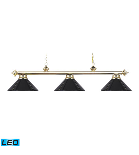 ELK Lighting Casual Traditions 3 Light Billiard/Island in Polished Brass 167-PB-BK-LED photo
