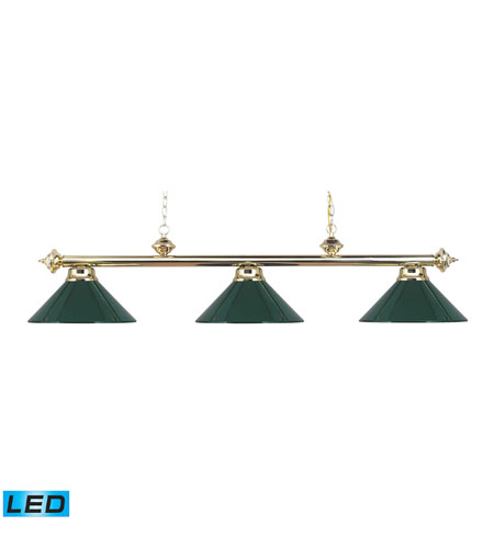 ELK Lighting Casual Traditions 3 Light Billiard/Island in Polished Brass 167-PB-GR-LED photo