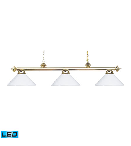 ELK 167-PB-WH-LED Casual Traditions LED 54 inch Polished Brass Billiard/Island Ceiling Light photo